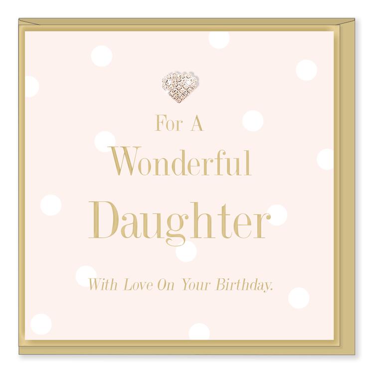 Hearts Designs Birthday Wonderful Daughter Card
