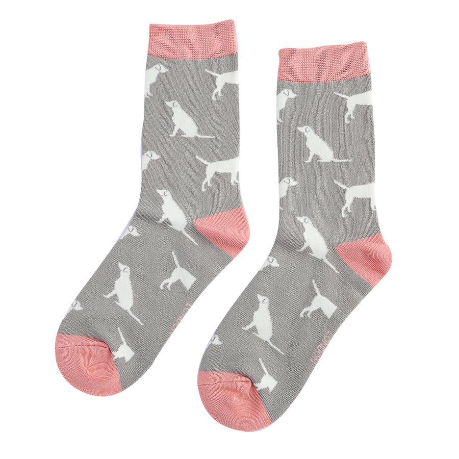 Bamboo Socks Labradors Grey