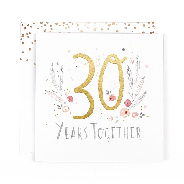 Champagne 30 Years Together Card