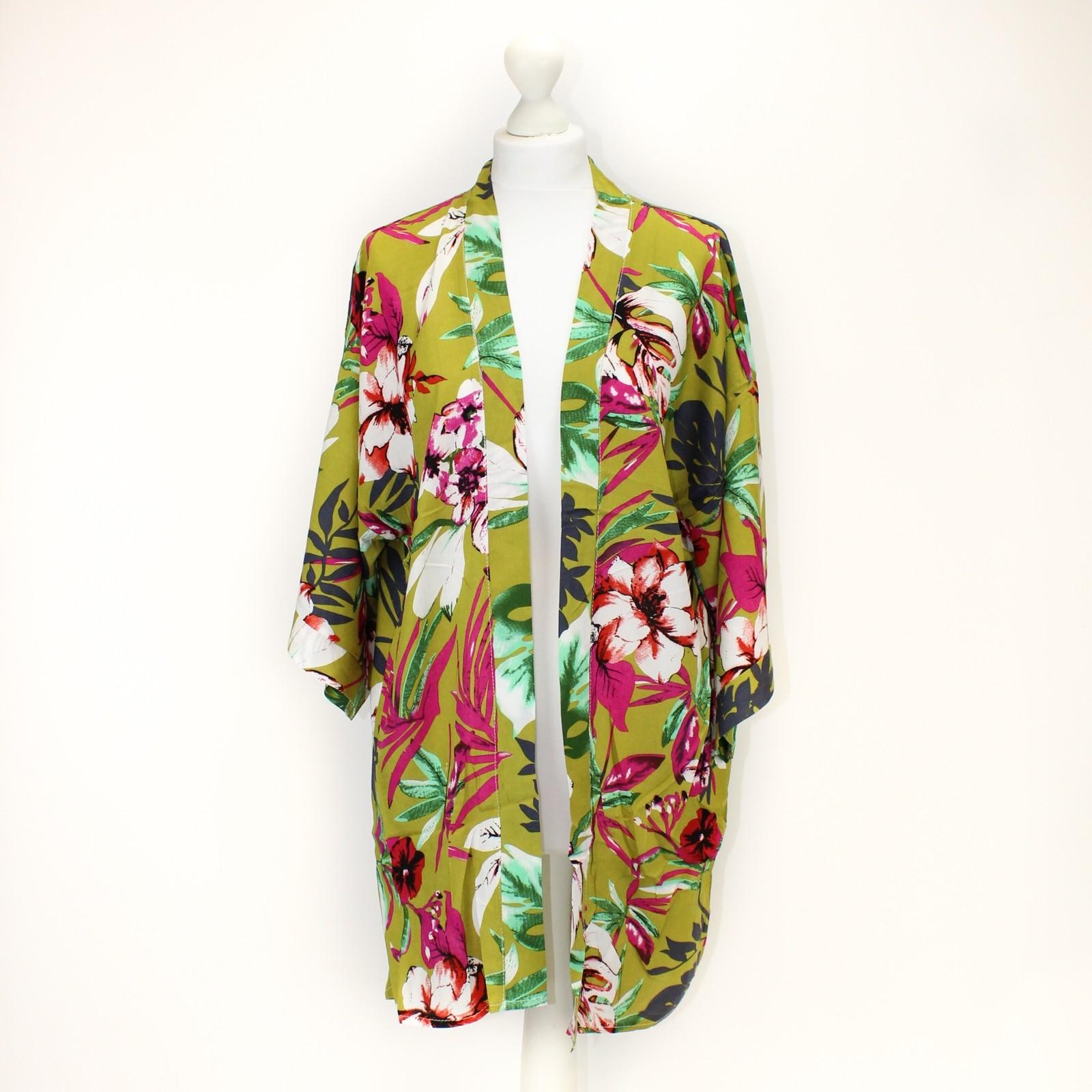 Lime Tropical Floral Kimono NBC
