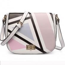 Abstract White Handbag