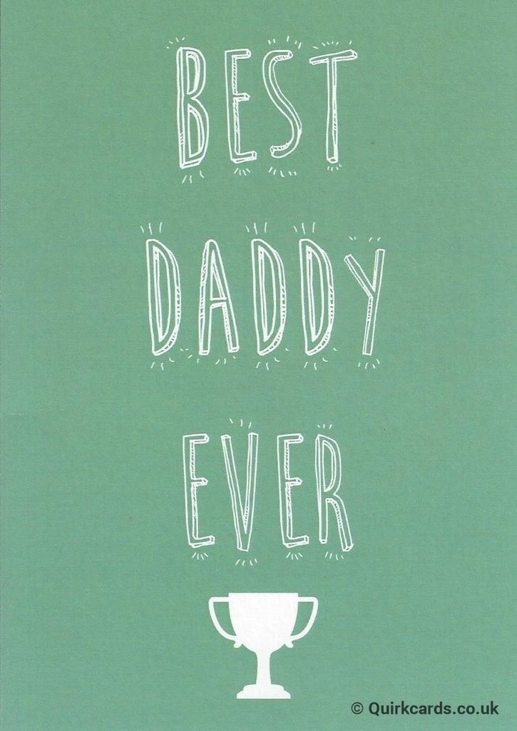 Father's Day Best Daddy Ever Card