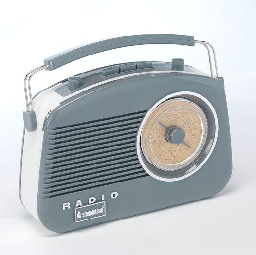 Steepletone Brighton Radio Grey REDUCED
