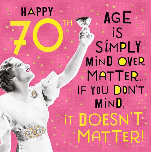 Nutty Neon 70 Retro Birthday Card