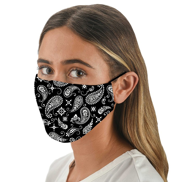 Face Mask Adult Snoozies Black Bandana
