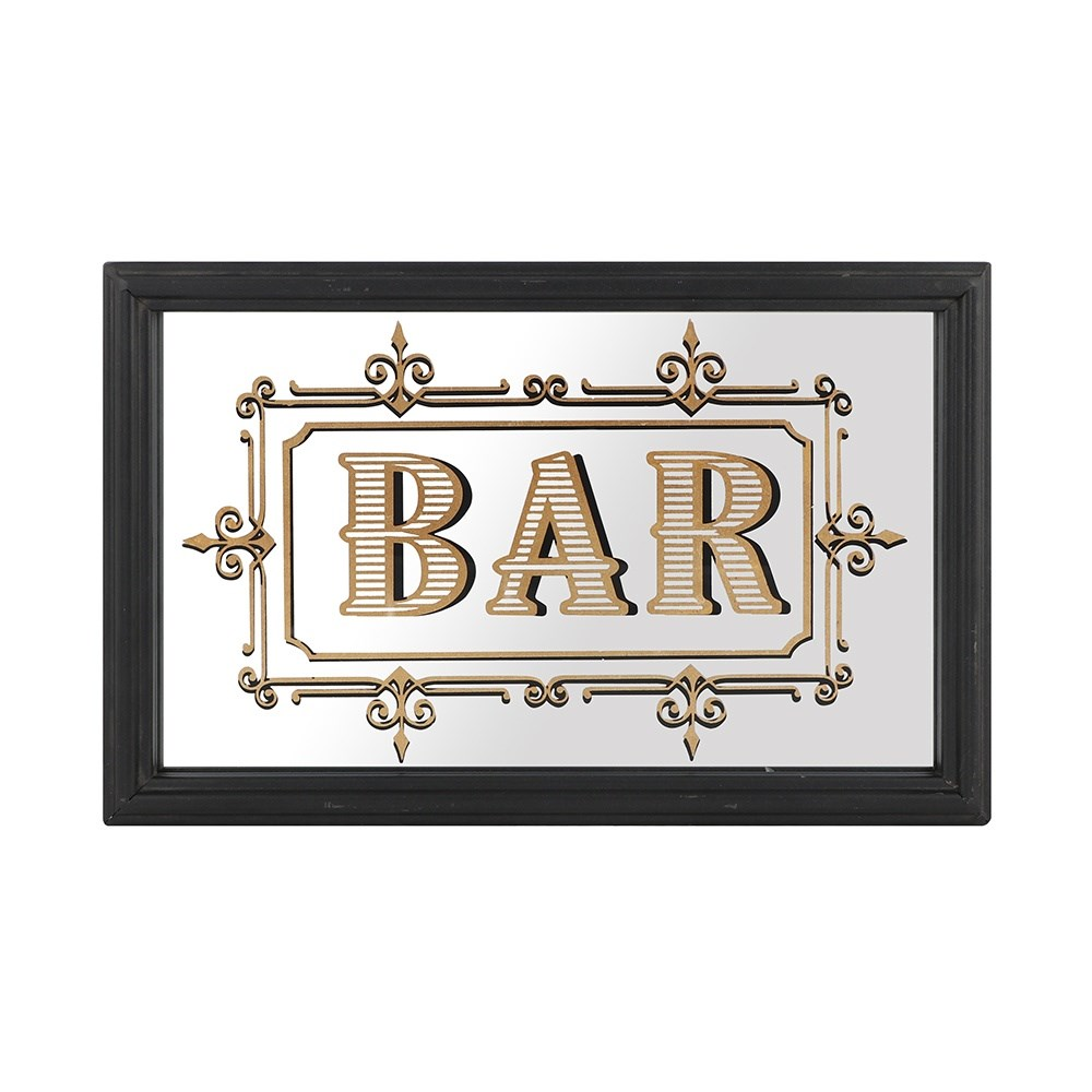 Vintage Style Bar Wall Mirror