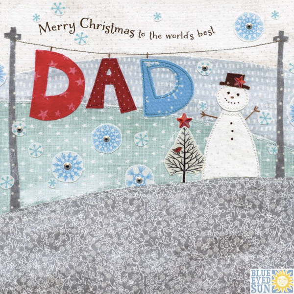 Enchantment Merry Christmas Dad Card