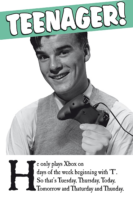 Captions Teenager Xbox Card