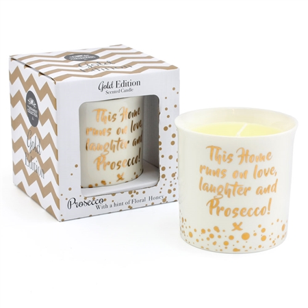This Home Runs On Love Laughter & Prosecco Candle