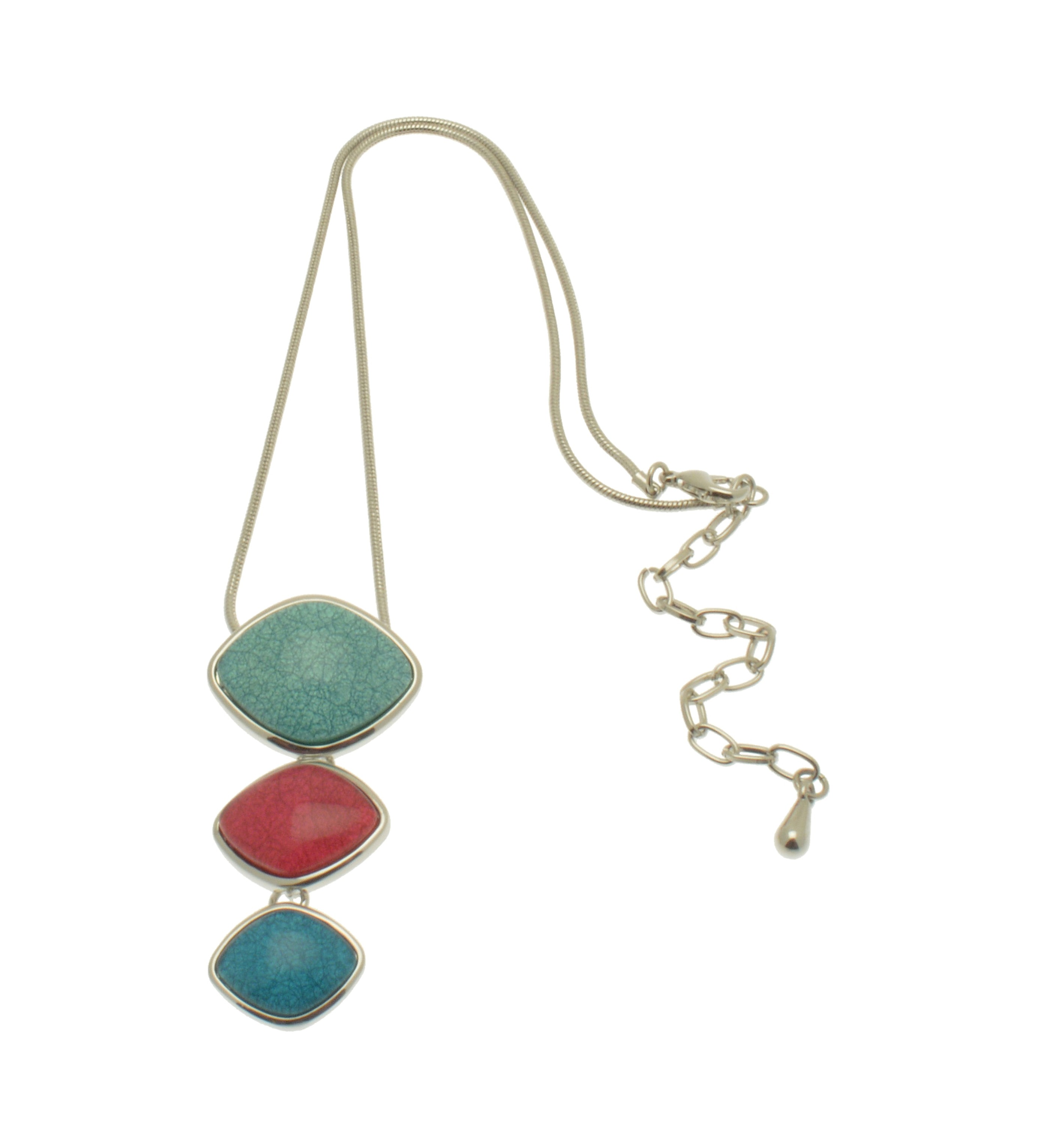 Turquoise Resin Trio Necklace