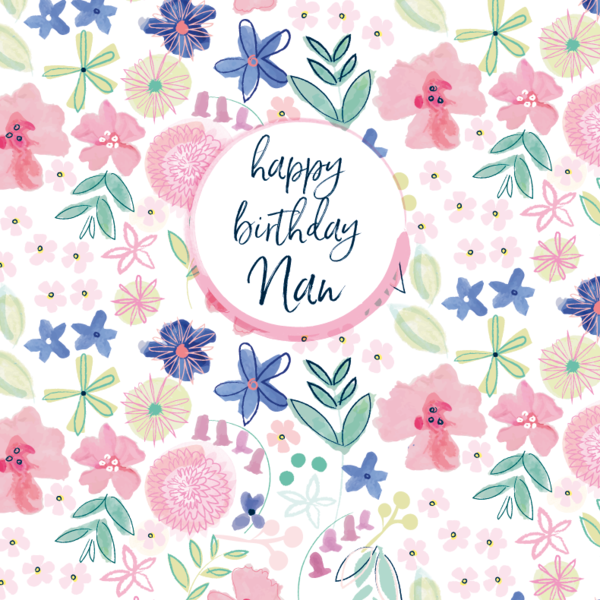 Pattern Boutique Happy Birthday Nan Card