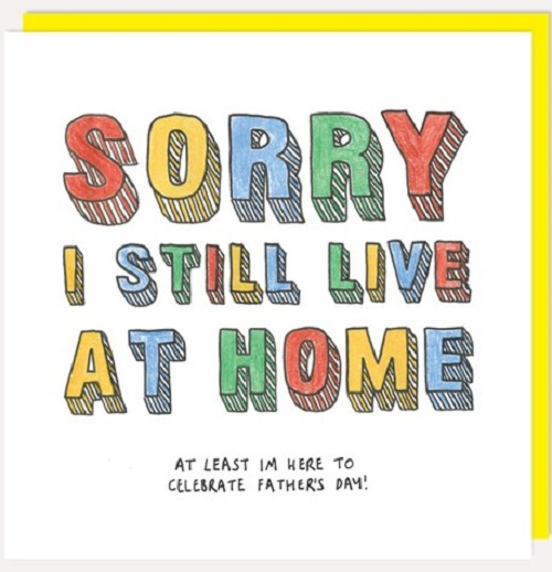 Father's Day Still Live At Home Card