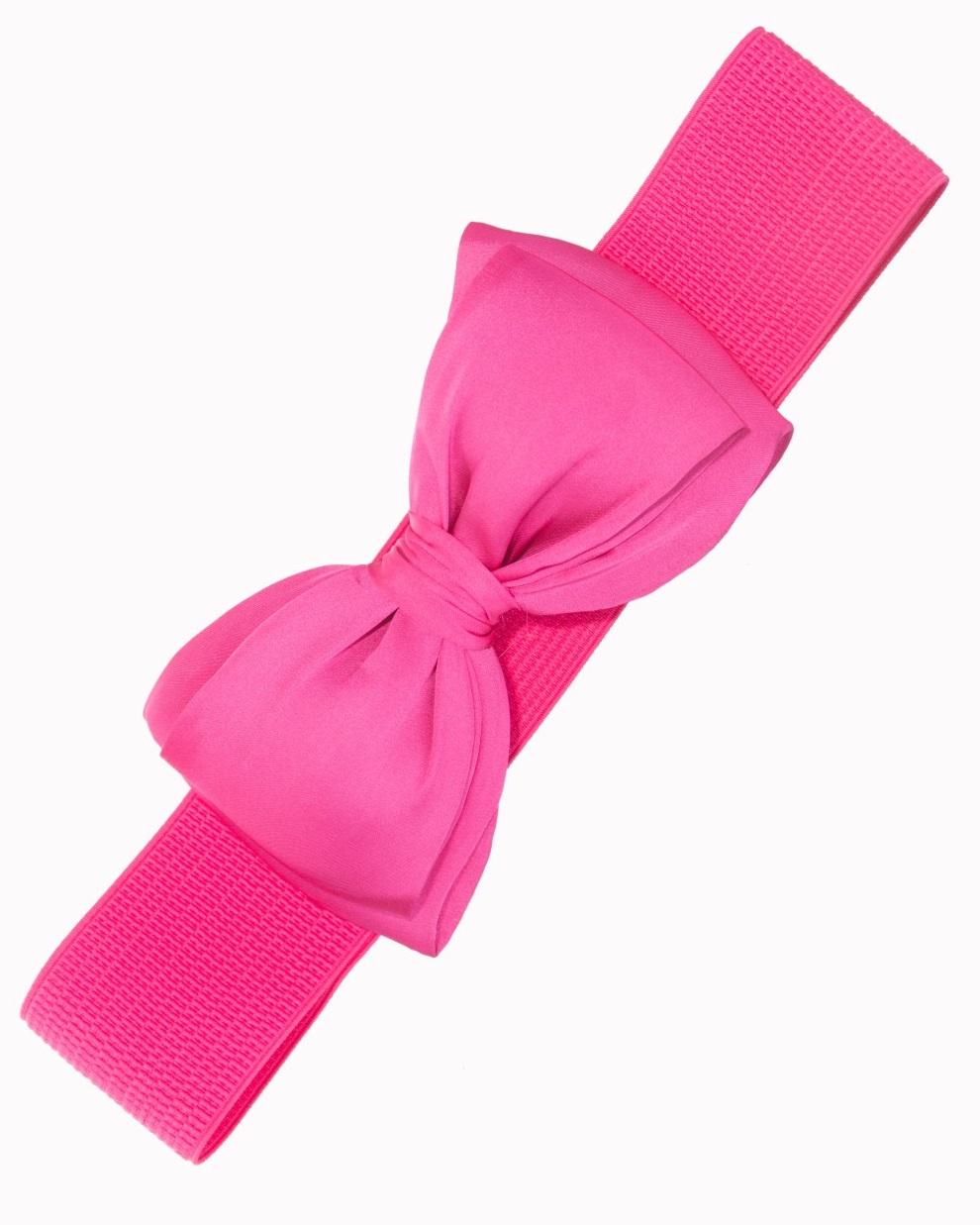 Vintage Style Bow Belt Pink