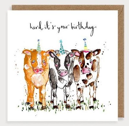 Herd It's your Birthday Cows Card