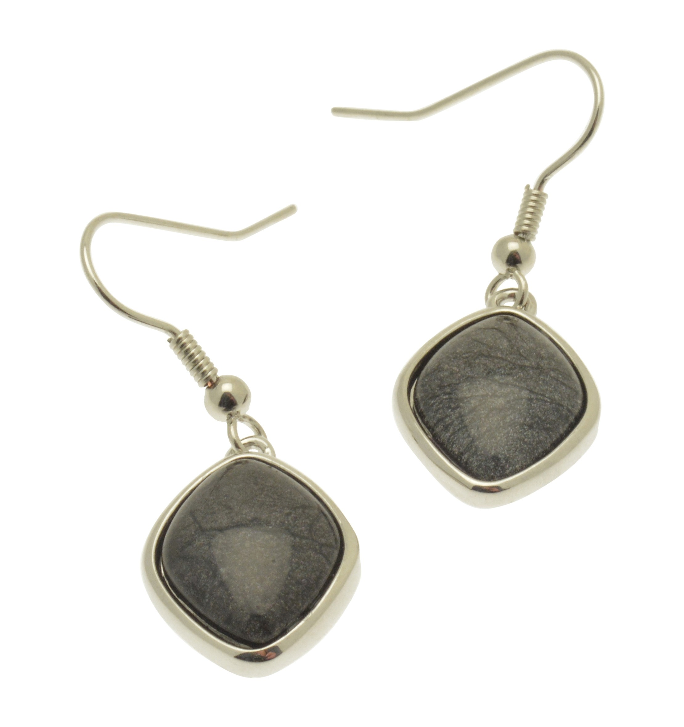 Grey Resin Drop Earrings NBC