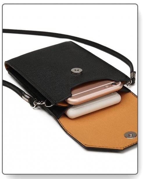 Slim Mobile Crossbody Bag Black