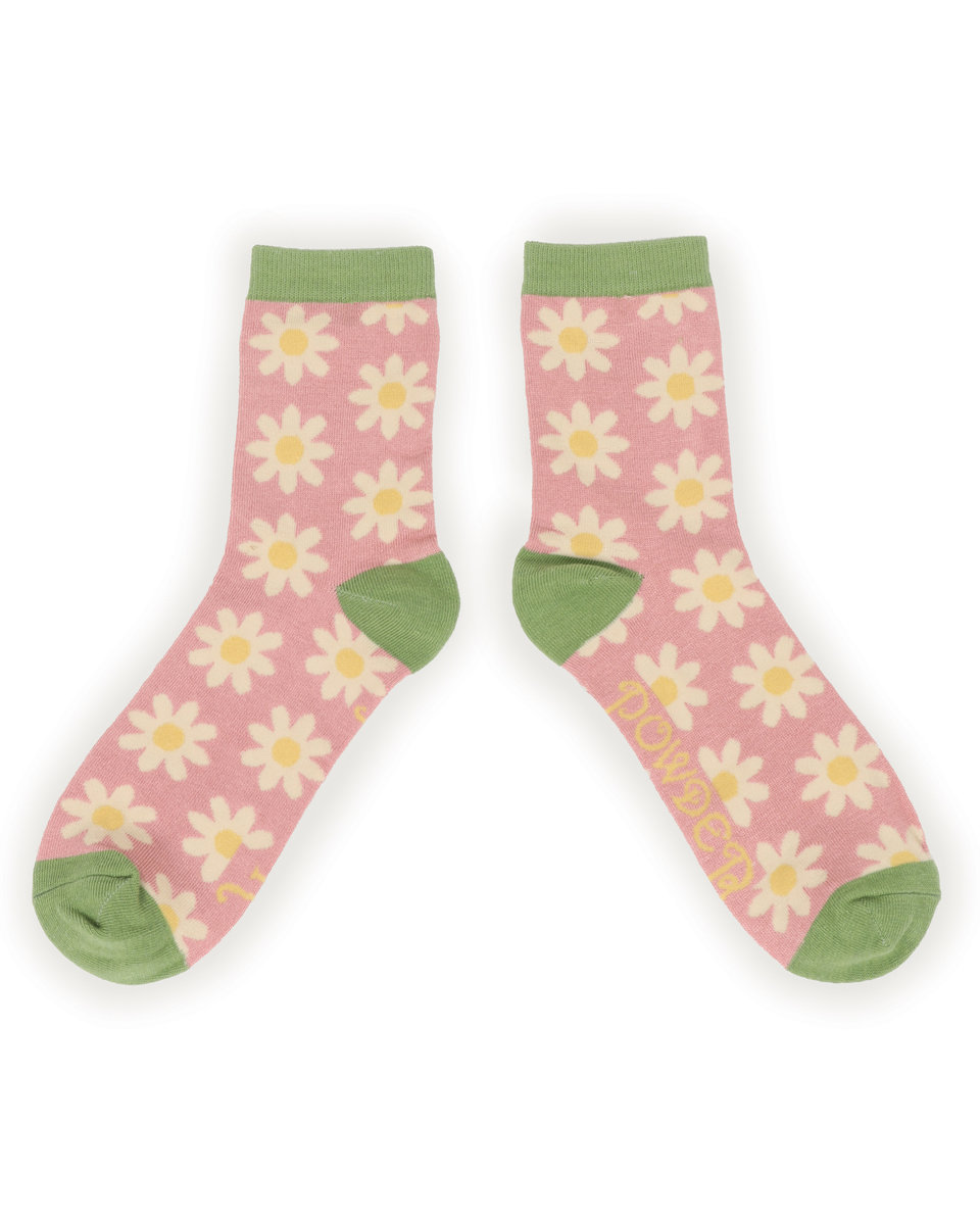 Powder Ankle Socks Daisy Pink