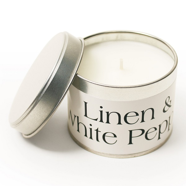 Linen & White Pepper Tin Candle