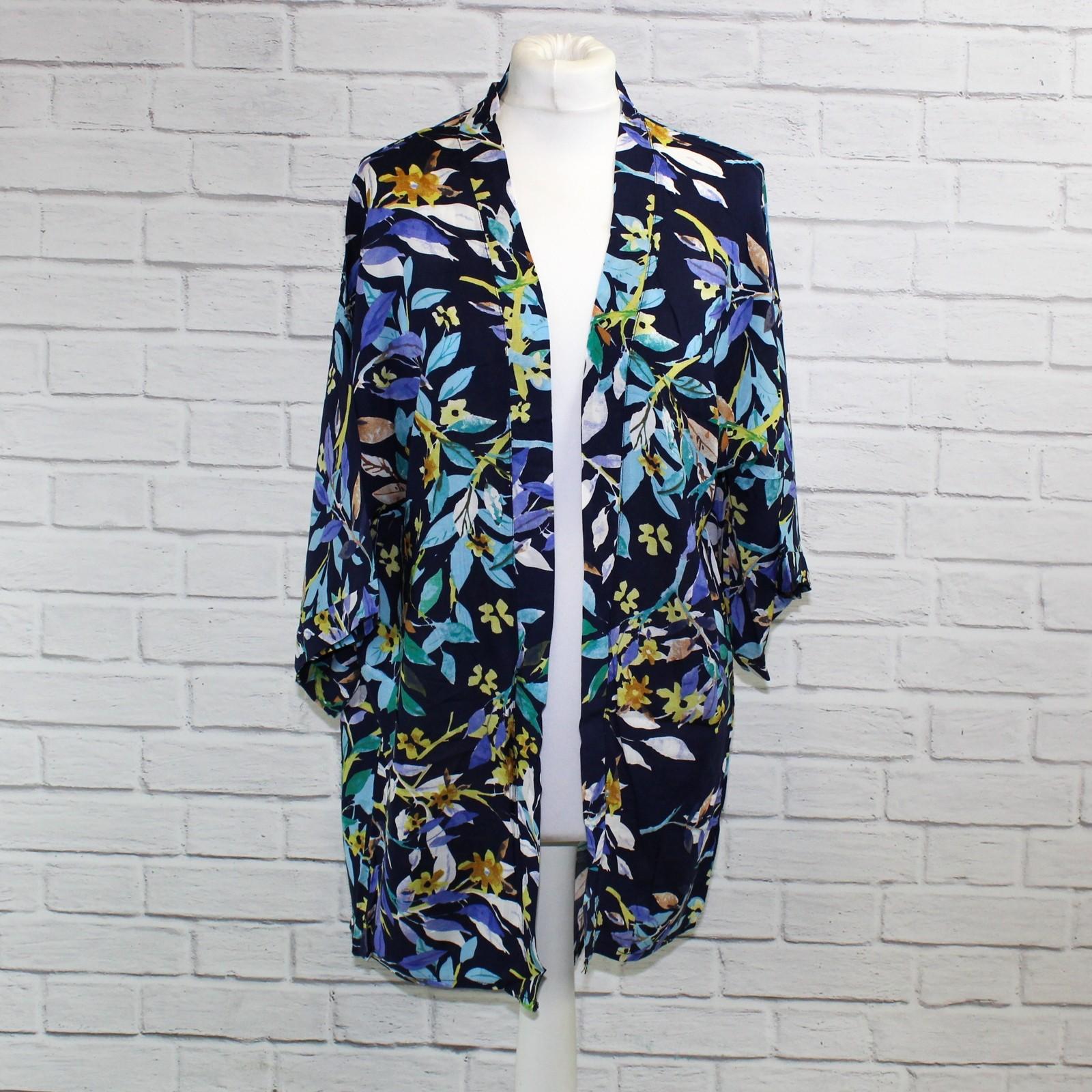 Navy Blue Leaf Kimono NBC