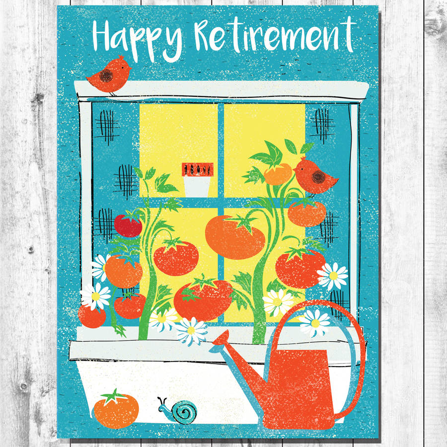 Windowbox Happy Retirement Card