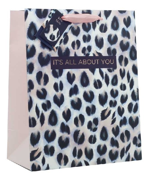 Gift Bag Large It's All About You Animal Print