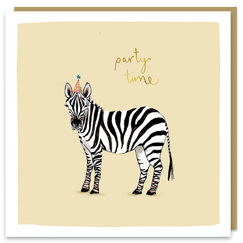 Party Time Zebra Card