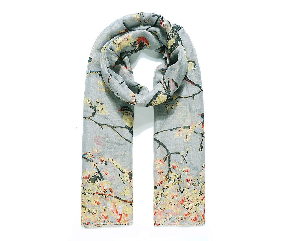 Bird & Blossom Scarf
