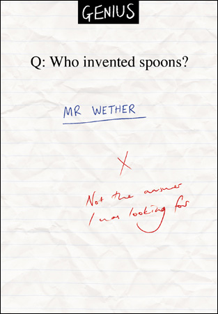 Genius Who Invented Spoons? Card