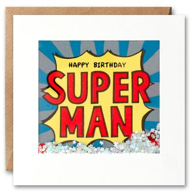 Shakies Happy Birthday Super Man Card