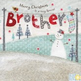 Enchantment Merry Christmas Brother Card