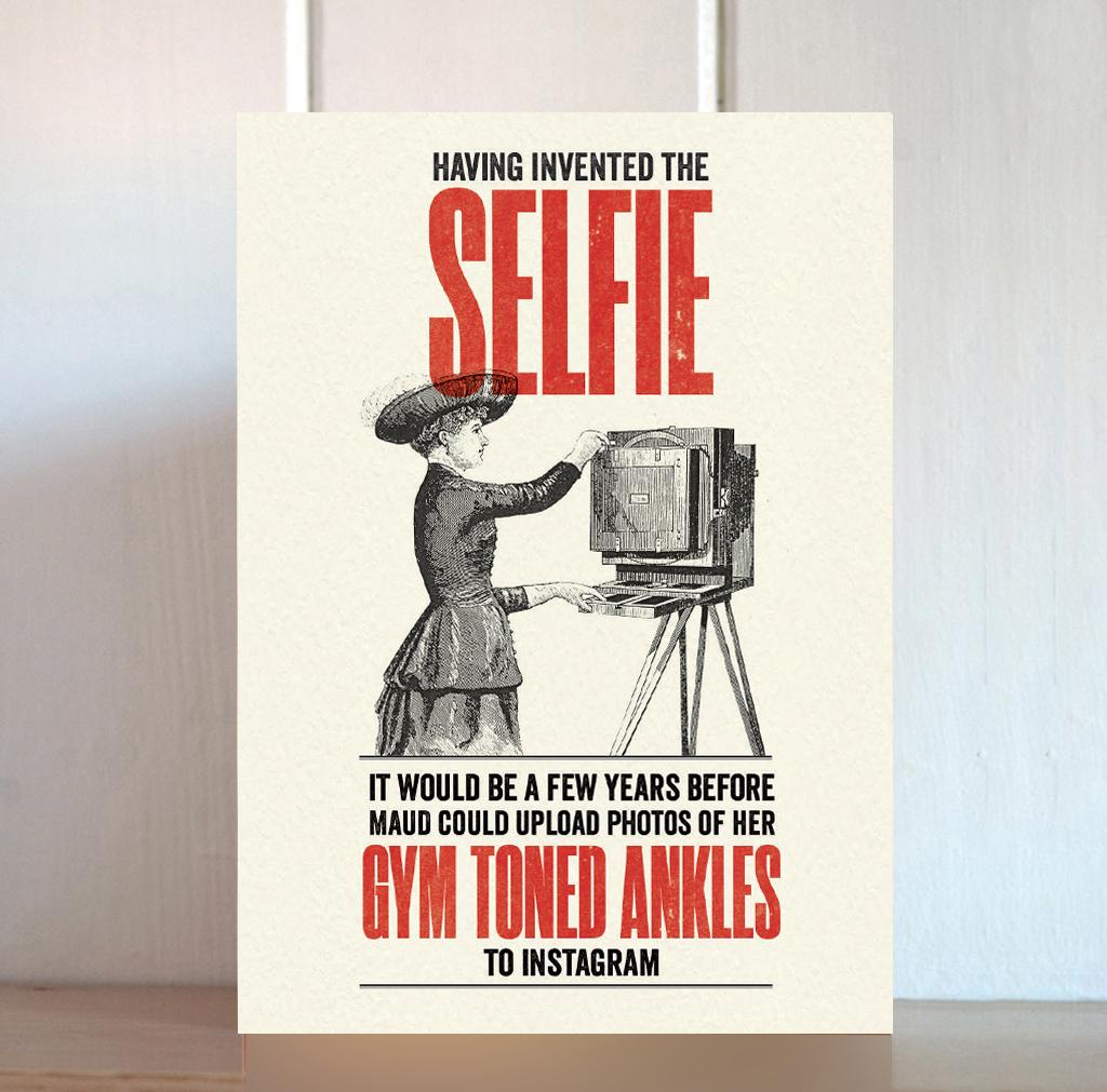 Modern Life Selfie Card