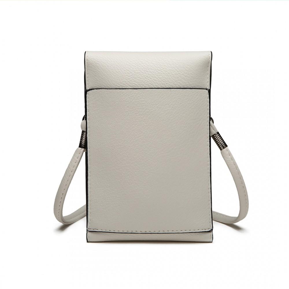 Slim Mobile Crossbody Bag White