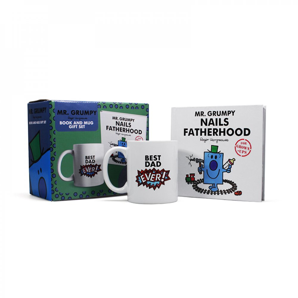 Mr Grumpy Nails Fatherhood Book & Mug Set HALF PRICE