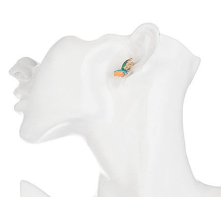 Enamel Hummingbird Earrings