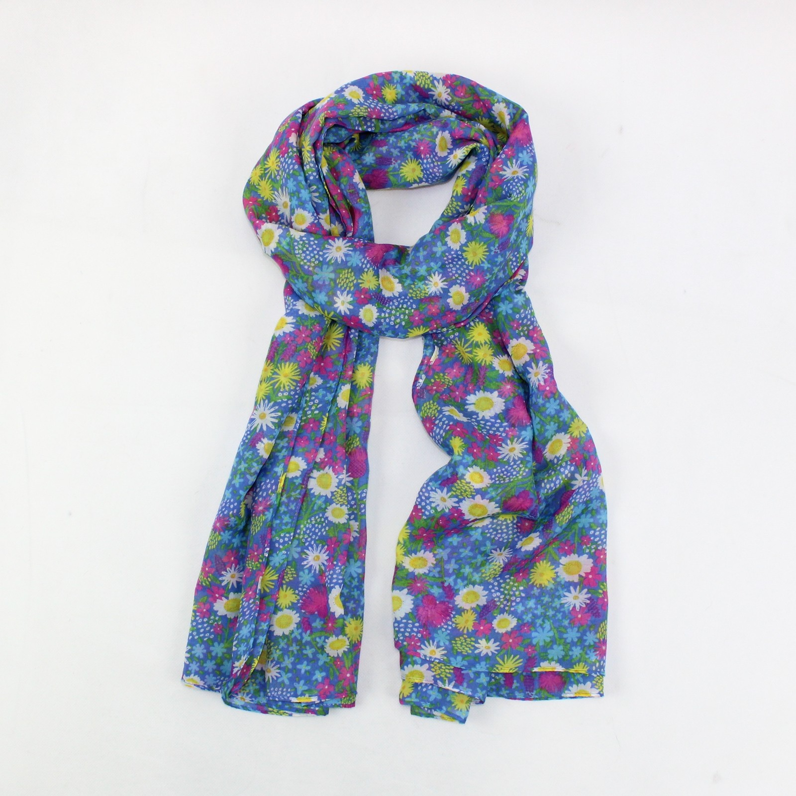 Wild Flowers Scarf Blue SALE HALF PRICE