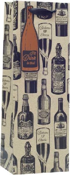 Bottle Gift Bag Vintage Wine