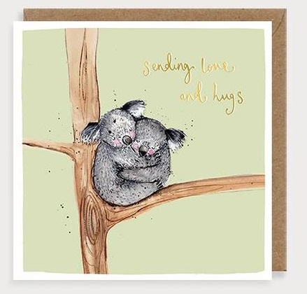 Sending Love And Hugs Koalas Card