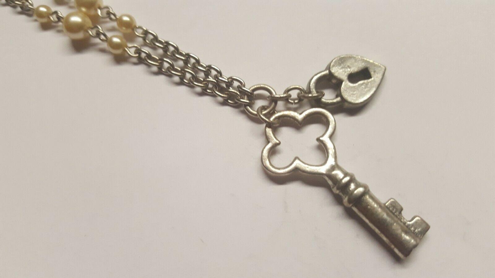 Classic Hardware Key & Heart Padlock Pendant