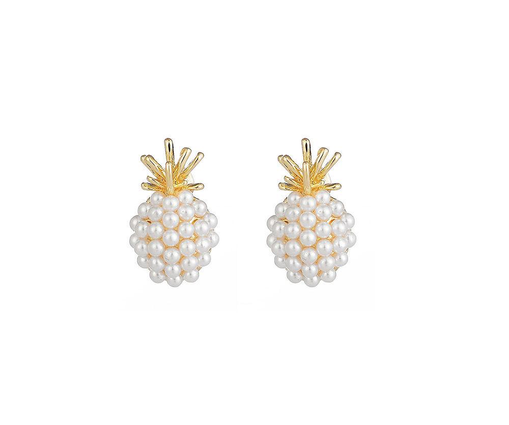 Pineapple Pearly Earrings