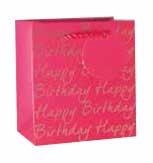 Gift Bag Small Pink Happy Birthday
