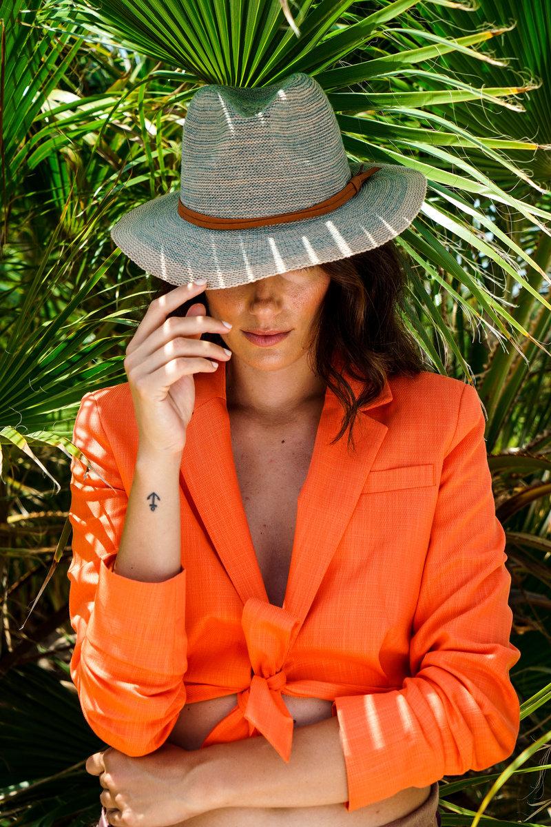 Powder Hat Natalie Turquoise