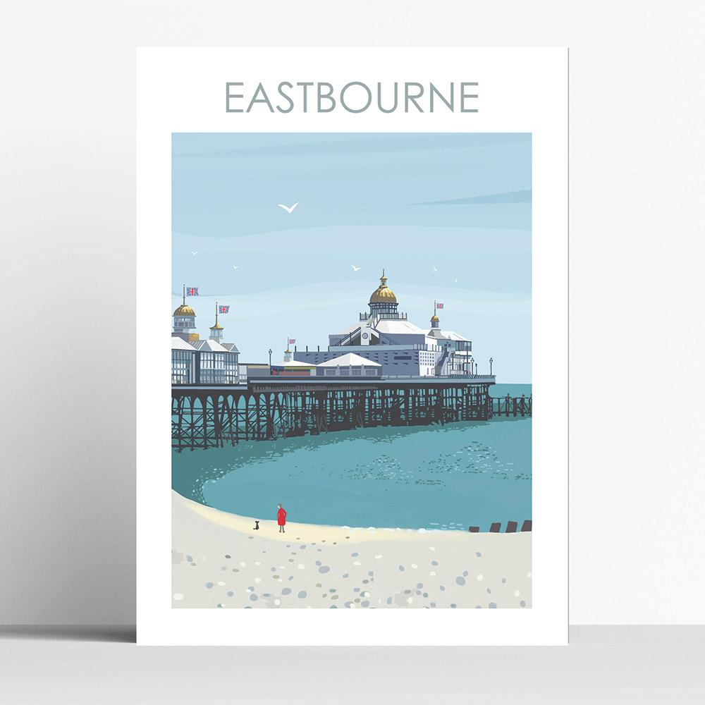 Eastbourne Pier A4 Print Framed