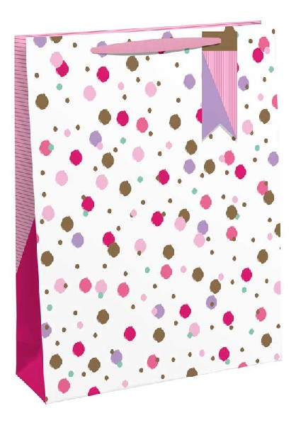 Gift Bag Large Pink Sprinkles