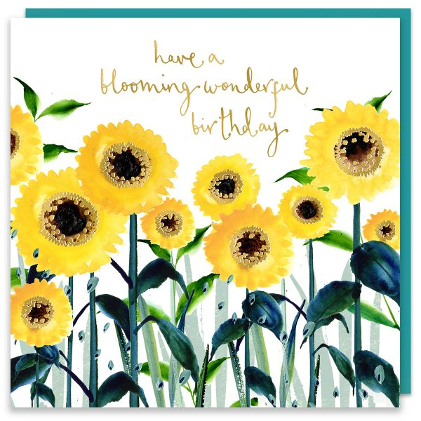 Blooming Wonderful Birthday Sunflowers Card