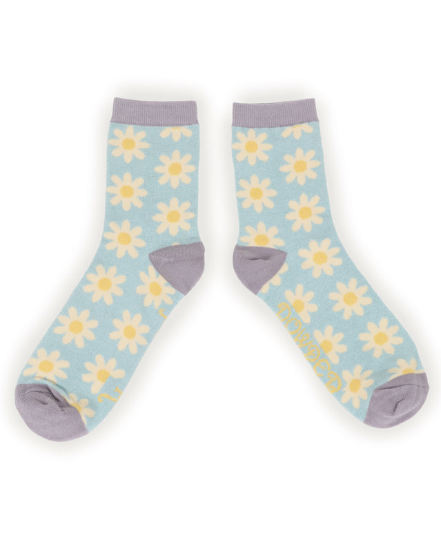 Powder Ankle Socks Daisy Blue