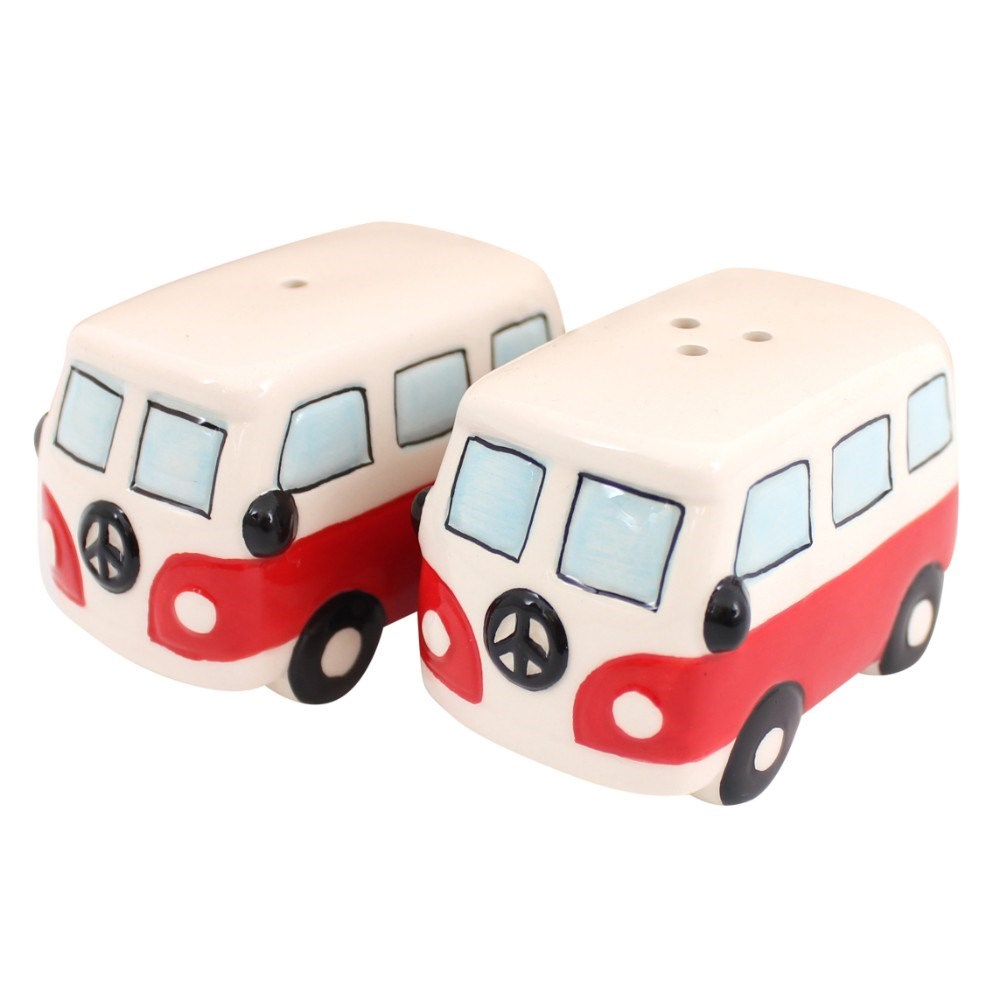 Campervans Salt & Pepper Cruet Set Red