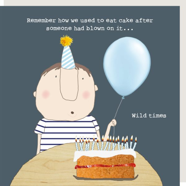 Wild Times Blow On Cake Birthday Card