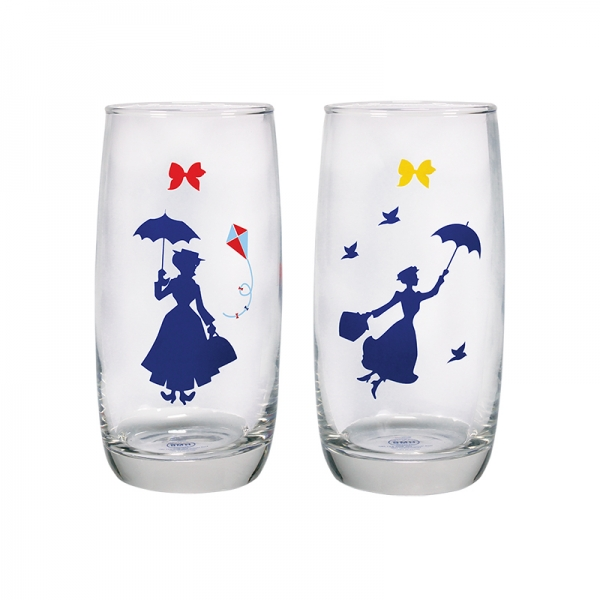 Disney Mary Poppins Set of 2 Glasses