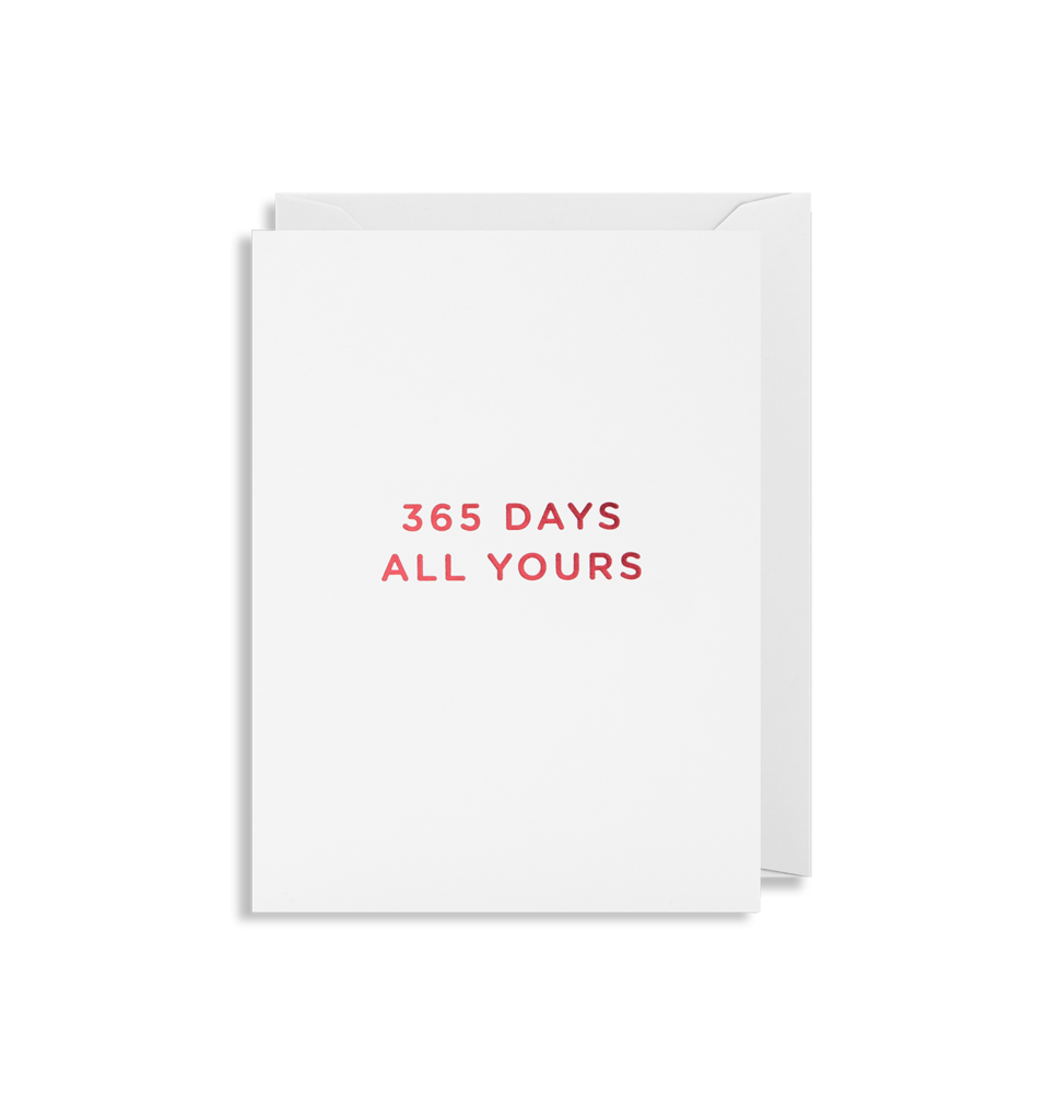 Mini Card 365 Days All Yours