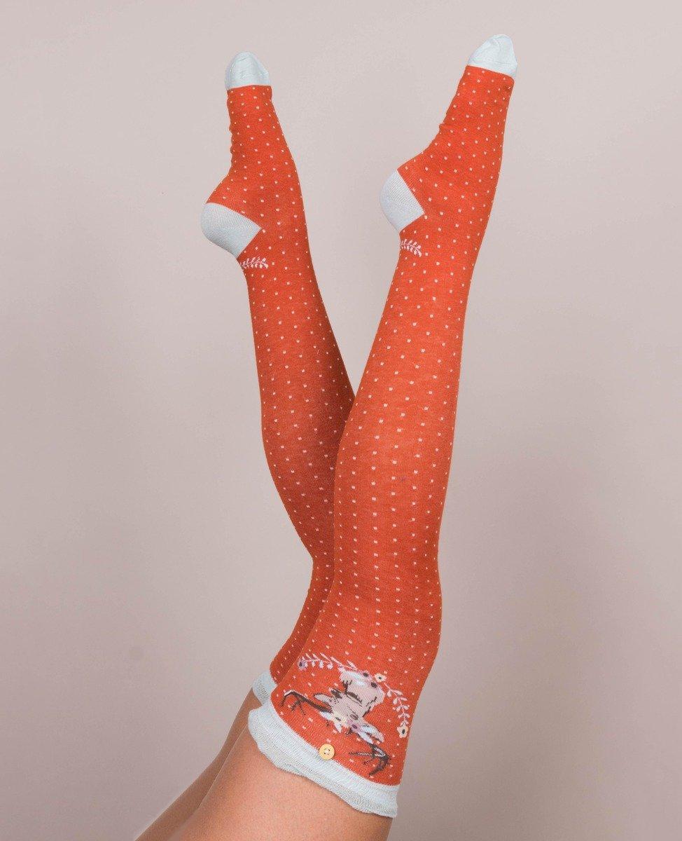 Powder Over Knee Socks Stag